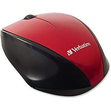 Verbatim Wireless Notebook Multi-Trac Blue LED Mouse - Red