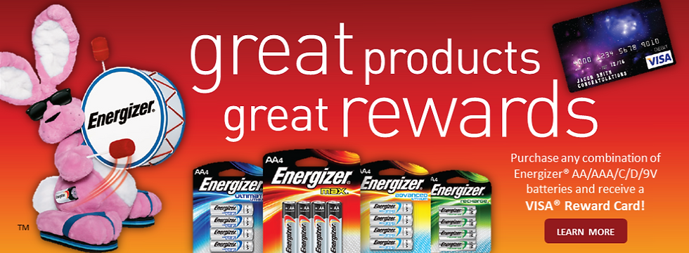 Energizer Visa Card Offer