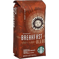Starbucks 1 lb. Bag Breakfast Blend Ground Coffee Ground