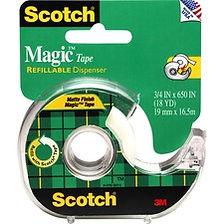 Scotch Dispensing Matte Finish Magic Tape