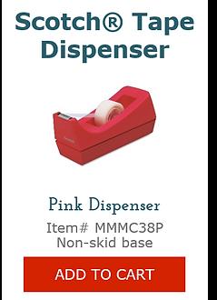 MMMC38P Pink Tape Dispenser