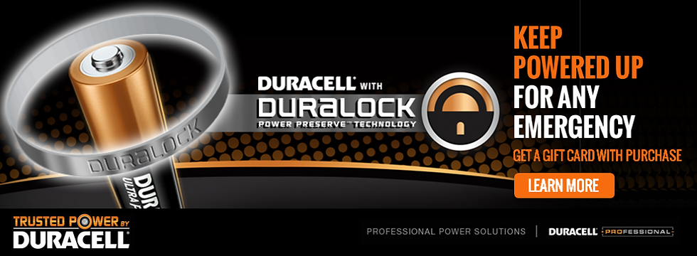 Duracell Gift Card Promotion