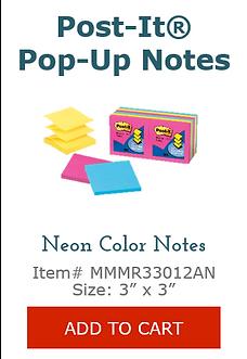 MMMR33012AN Neon Pop Up Notes