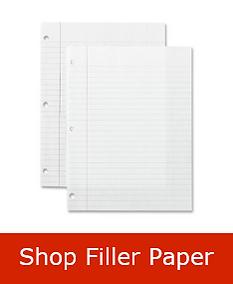 Filler Paper Back To School