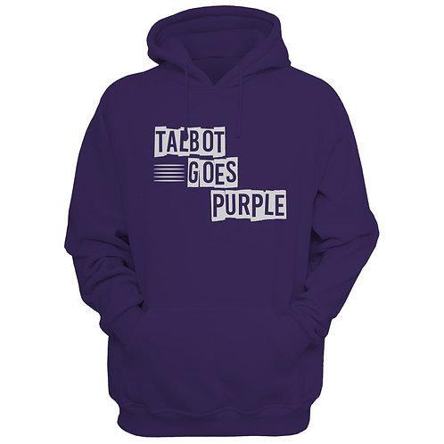 Talbot Goes Purple Hooded Sweatshirt