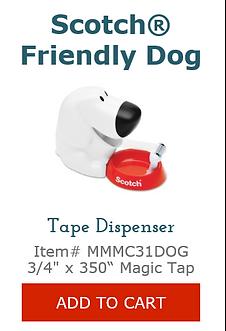 MMMC31DOG Dog Tape Dispenser