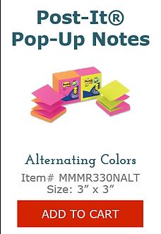 MMM330NALT Alternating Color Post Its