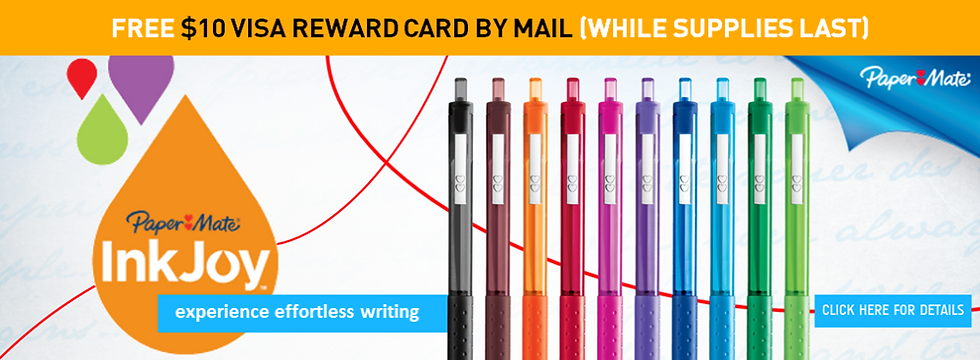 Paper Mate Free Reward Card Promotion