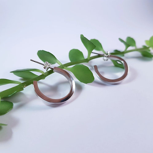 Chunky Square Hoop Earrings