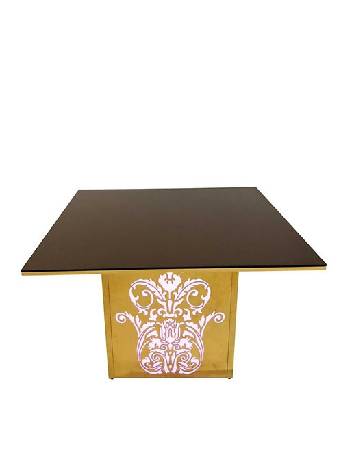 Gold Square Cake Table