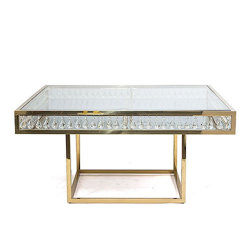 Gold Chandelier Dining Table