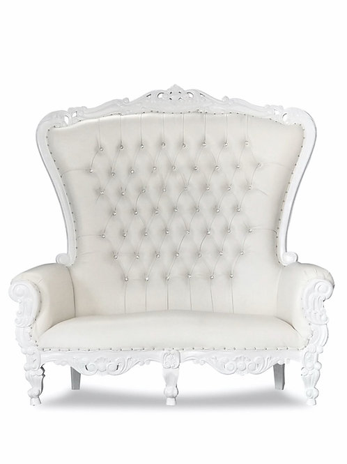 White Throne Couch