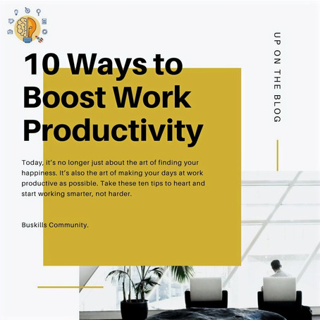 10 ways to boost work productivity.