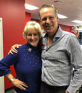 Sheryl Rousch and Rick Itzkowich at a speaking event for the San Diego Professional Coaches Alliance
