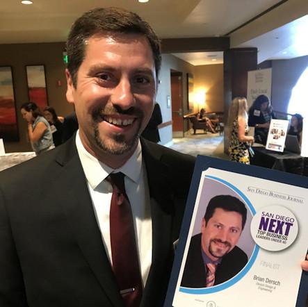 Brian Dersch SDBJ NEXT Award Winner