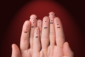 bigstock-Faces-Are-Painted-On-The-Finge-