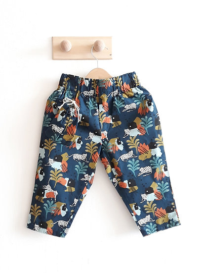 Bavlněné kalhoty s leopardy