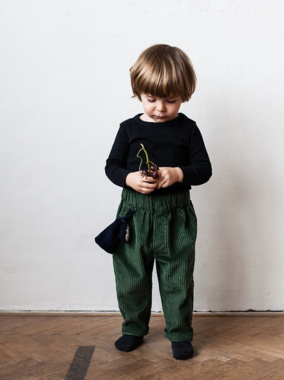 Manšestrové kalhoty zelené