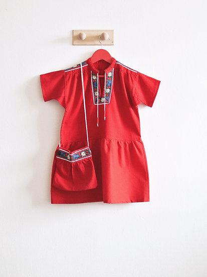 Červené šaty vel. 104
