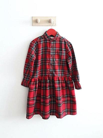 Kostkované červené šaty