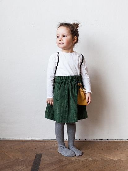 Manšestrová sukně zelená