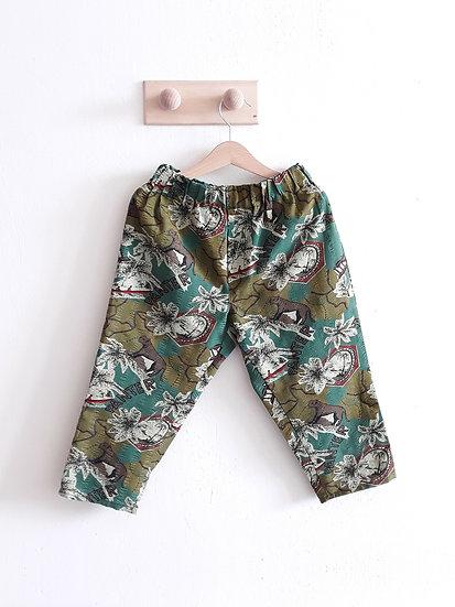 Bavlněné kalhoty s nosorožci