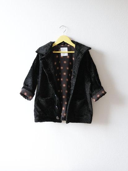 Kabátek s viskózou černý