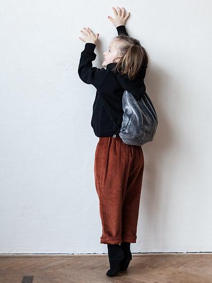 Manšestrové kalhoty rezavě hnědé
