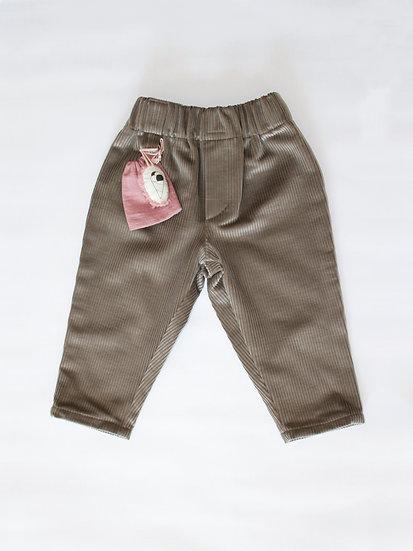 Manšestrové kalhoty šedé