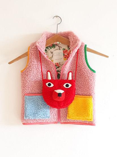 Set s růžovou vestou