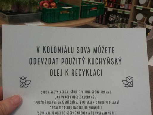 Sběrna použitého kuchyňského oleje