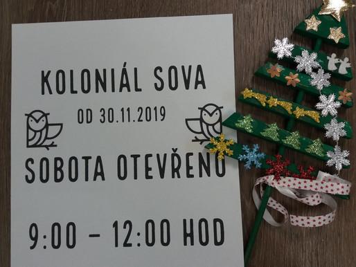SOBOTA OTEVŘENO 9-12:00 HOD