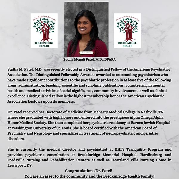 Copy of Sudha Mogali Patel, M.D., DFAPA