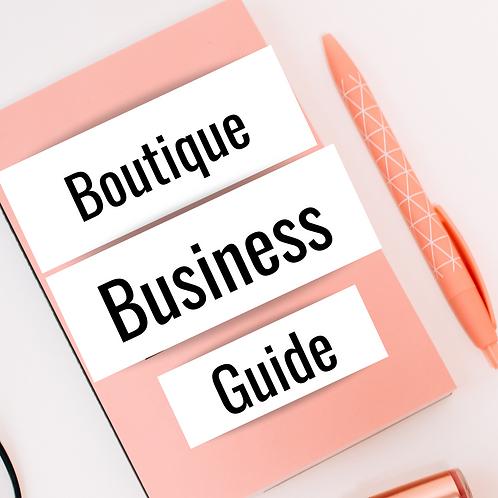 The Boutique Business Guide + Vendor's List