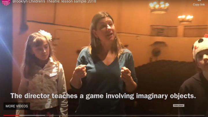 Theatre Rehearsal- Brooklyn Children's Theatre 2018.