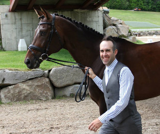 Andrew and Tate going to the jog at Bromont CCI**