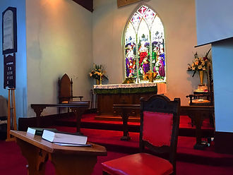 Whittlesea Church pews and Bible