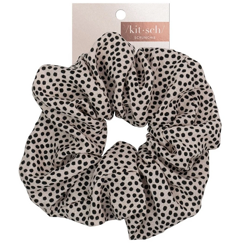 Kitsch Tan Dot Brunch Scrunchie
