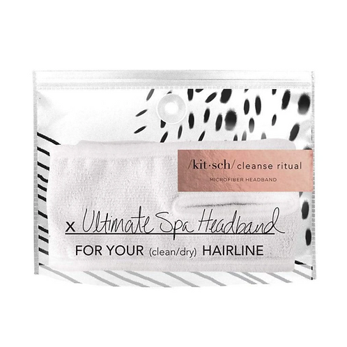 Kitsch White Microfiber Spa Headband