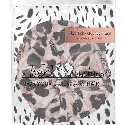 Kitsch Leopard Microfiber Towel Scrunchie