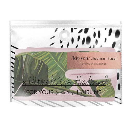Kitsch Palm Leave Microfiber Spa Headband