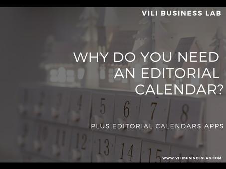 Why do you need an editorial calendar?
