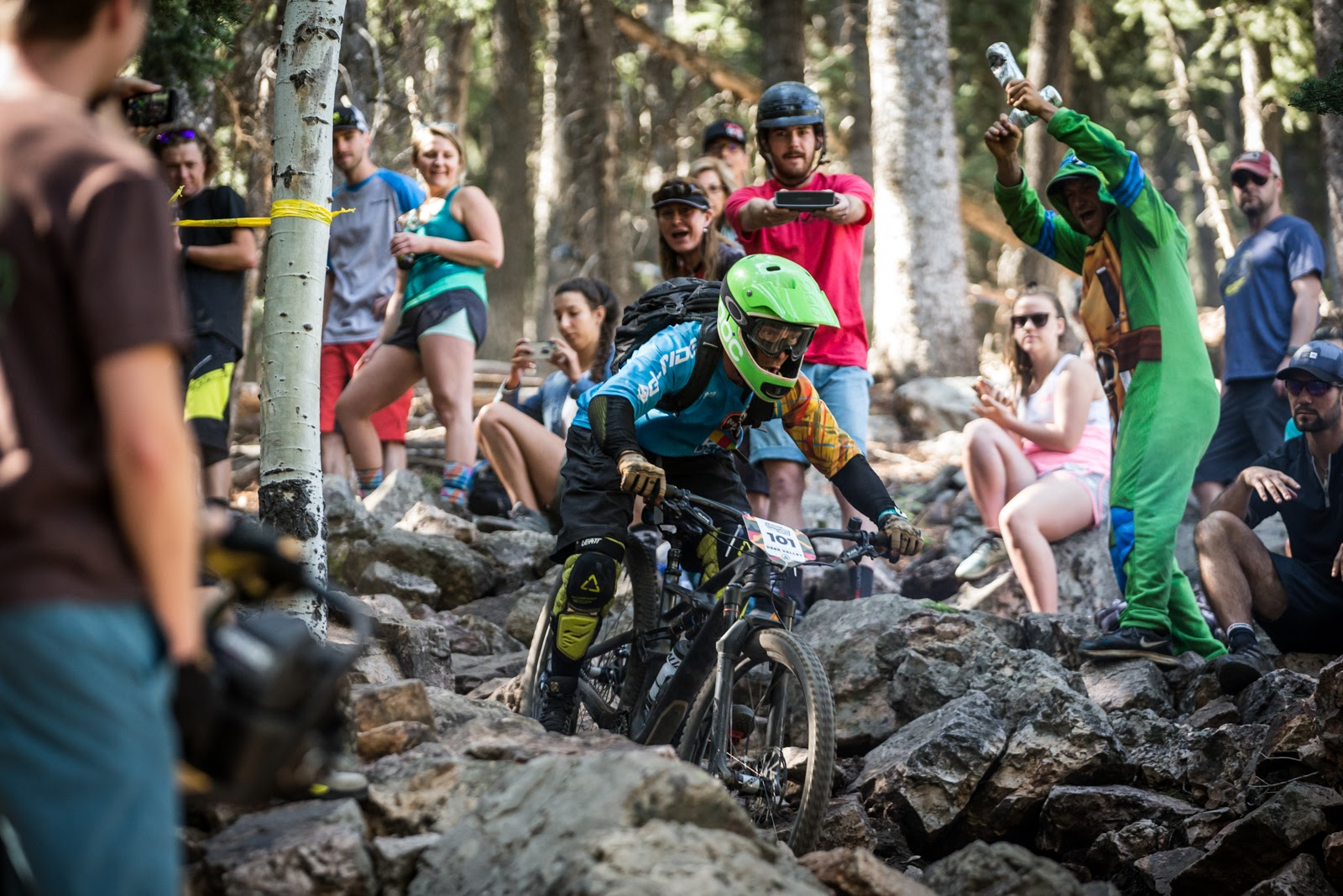 Jacob Levine races stage 6 of Round 4 in the Vet Expert Men's Division of the 2017 SCOTT Enduro Cup