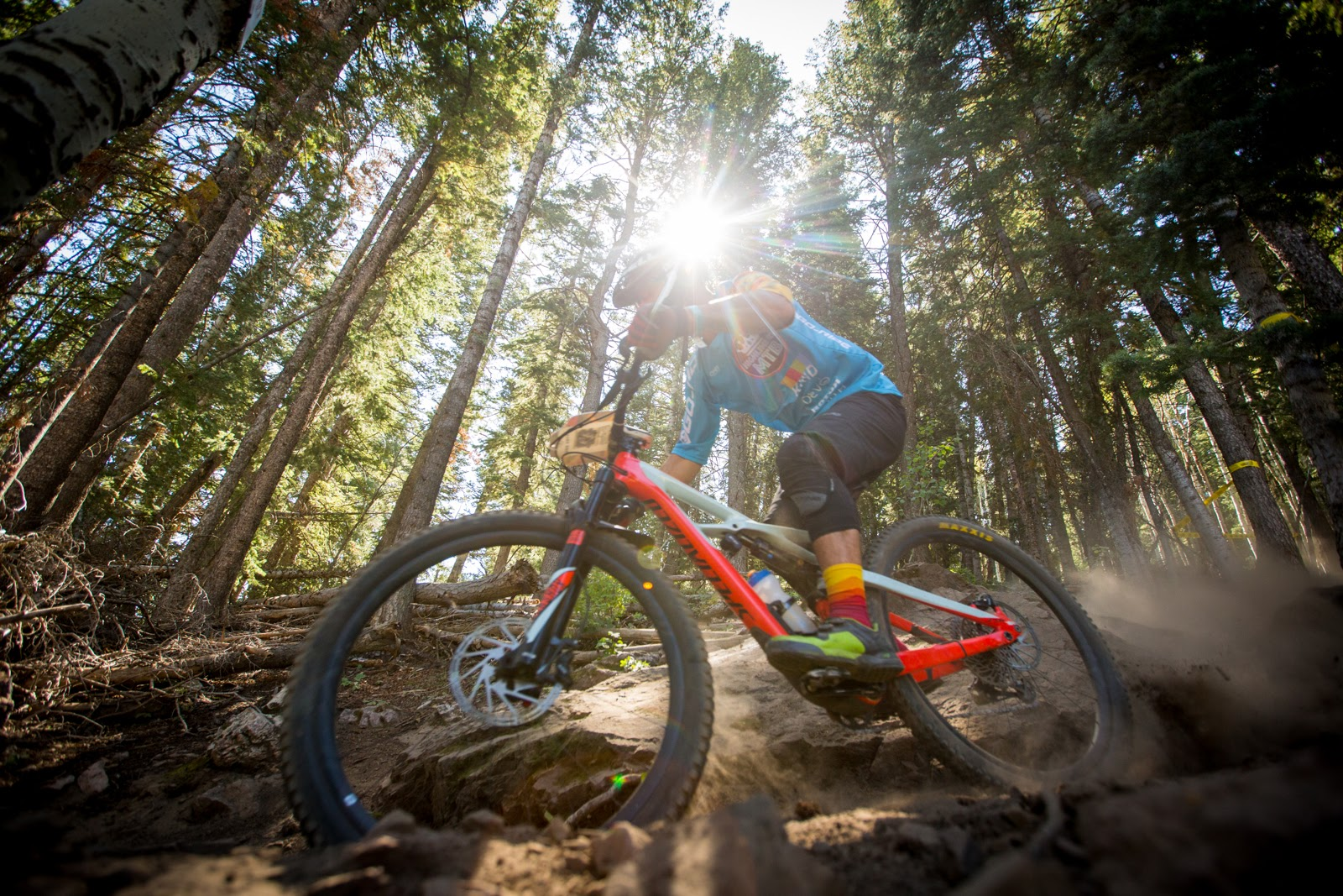 Eric Kramer races the vet expert discipline on stage six of the SCOTT Enduro Cup presented by Vittor