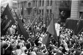 三池闘争の抗議デモ