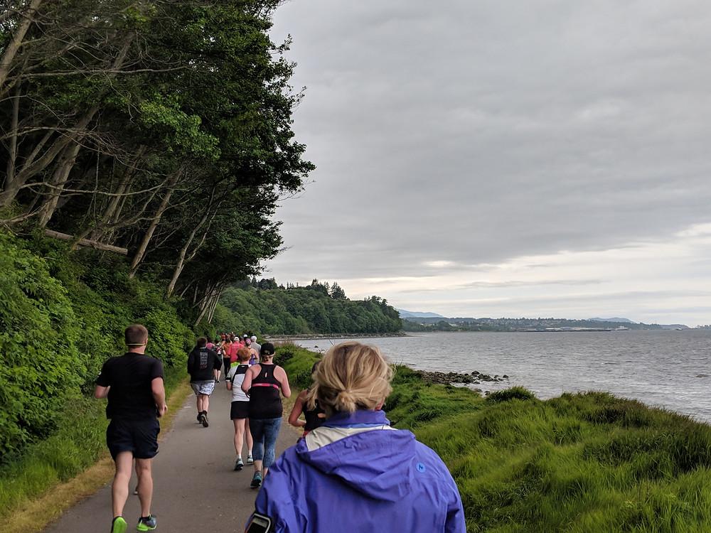 Miles 9-10 of North Olympic Discovery Half Marathon