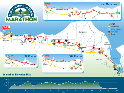 Race day registration available at the North Olympic Discovery Marathon