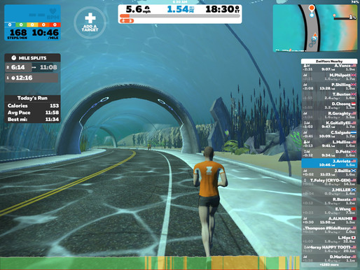 Add great variety to treadmill runs with Zwift