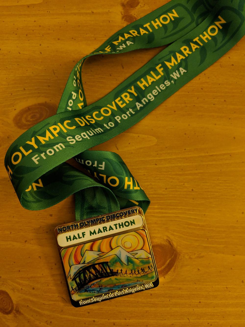 North Olympic Discovery Half Marathon Medal
