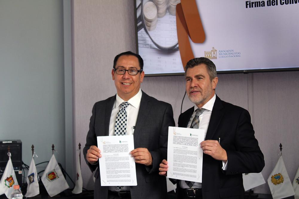 Firma del Convenio de Colaboración entre el INDETEC y el CNAM